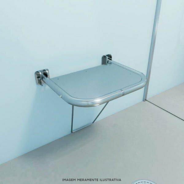 Banco para banho articulado com assento em chapa – medida 54 x 48