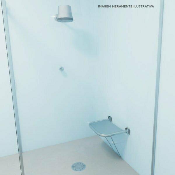 Banco para banho articulado com assento em chapa - medida 54 x 48
