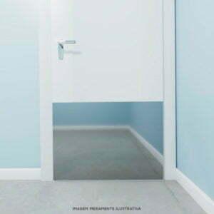 Chapa de proteção de porta em aço inox
