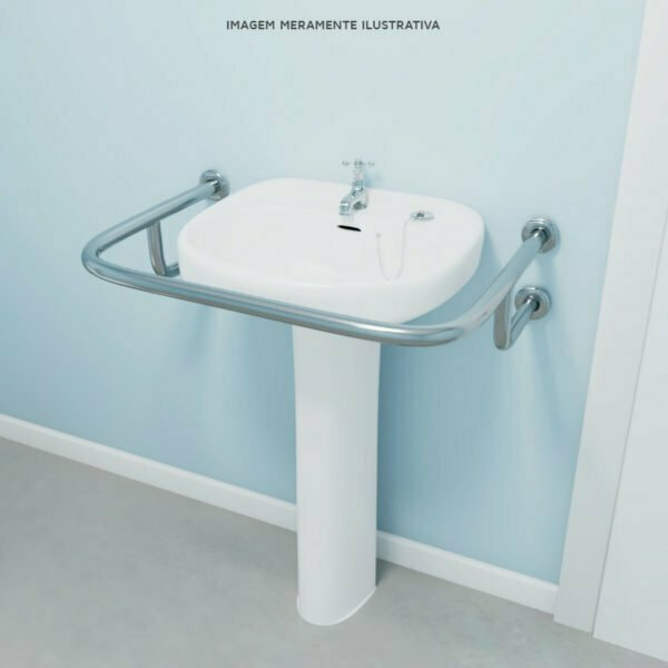 Barra de proteção para lavatorio – Modelo U