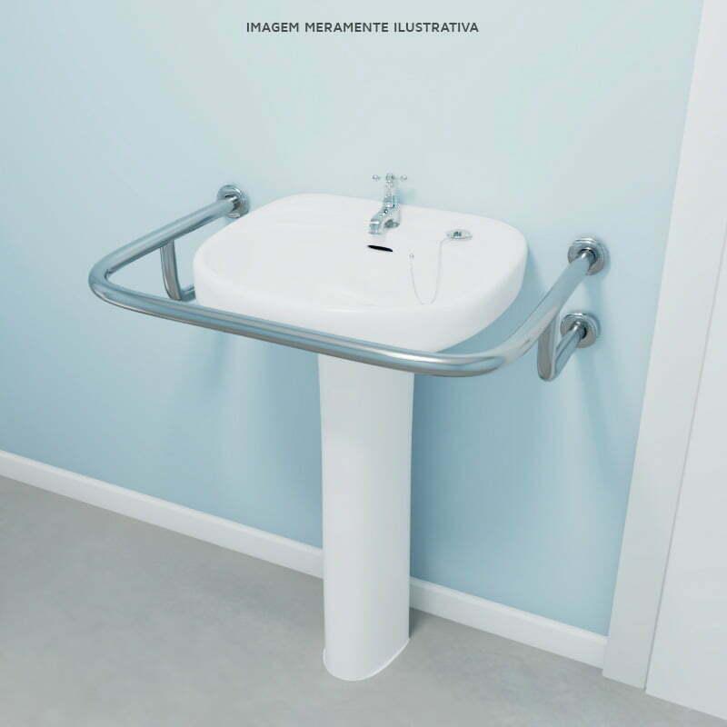 Barra de proteção para lavatorio - Modelo U