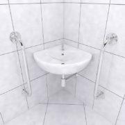 Barra de apoio para lavatório de canto